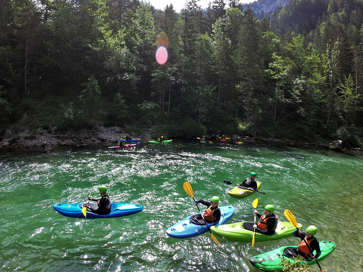 whitewater kayak course Austria