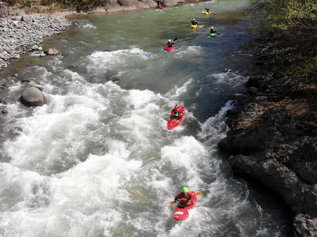 Kayaking course in Georgia