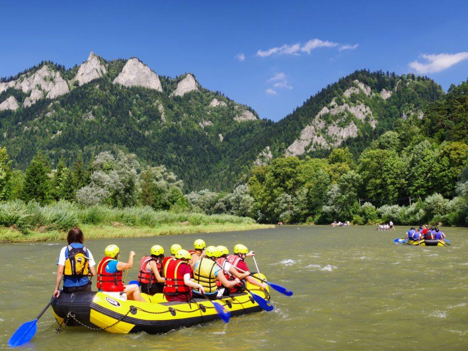 Rafting on Dunajec River three crowns Pieniny