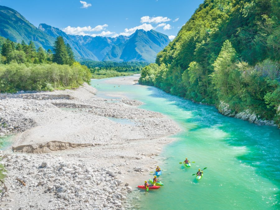 Kayaking in Slovenia