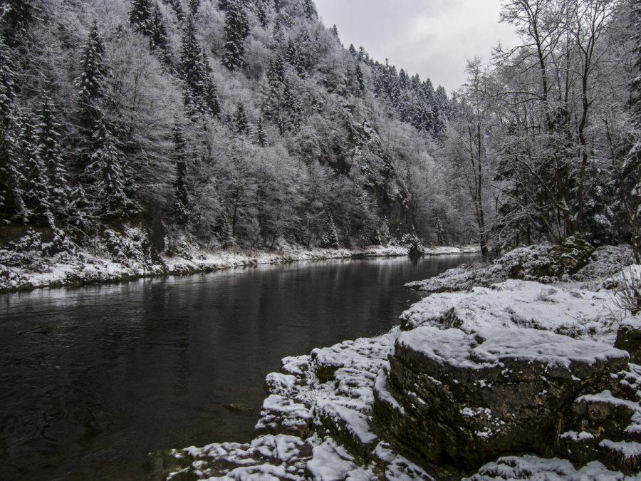 Dunajec w zimowej szacie