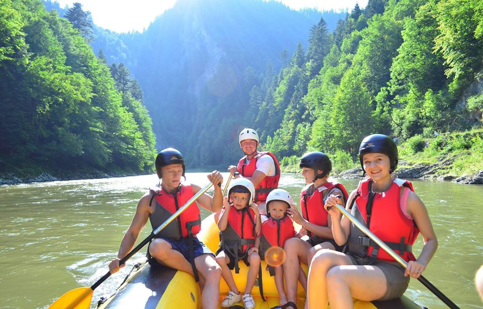 Rafting on the Dunajec with kids