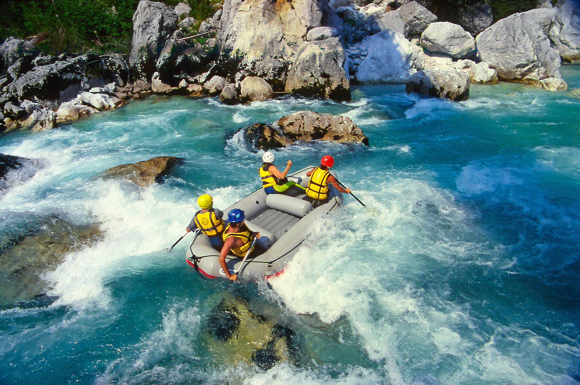 Rafting w Słowenii rzeką Soca